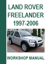 Land Rover Freelander Workshop Manual
